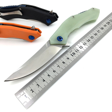 Blue Moon Pocket Folding Knife D2 Blade G10 Handle Bearing Combat Tactical Survival Hunting Knives Outdoor EDC Camping Tools