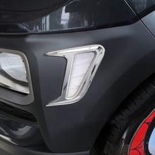 Per Hyundai Kona 2017 2018 Car Side Door Copertura Della Lampada Della Luce Trim Sticker Car Styling ABS Cromato Auto Decorazione Accessori