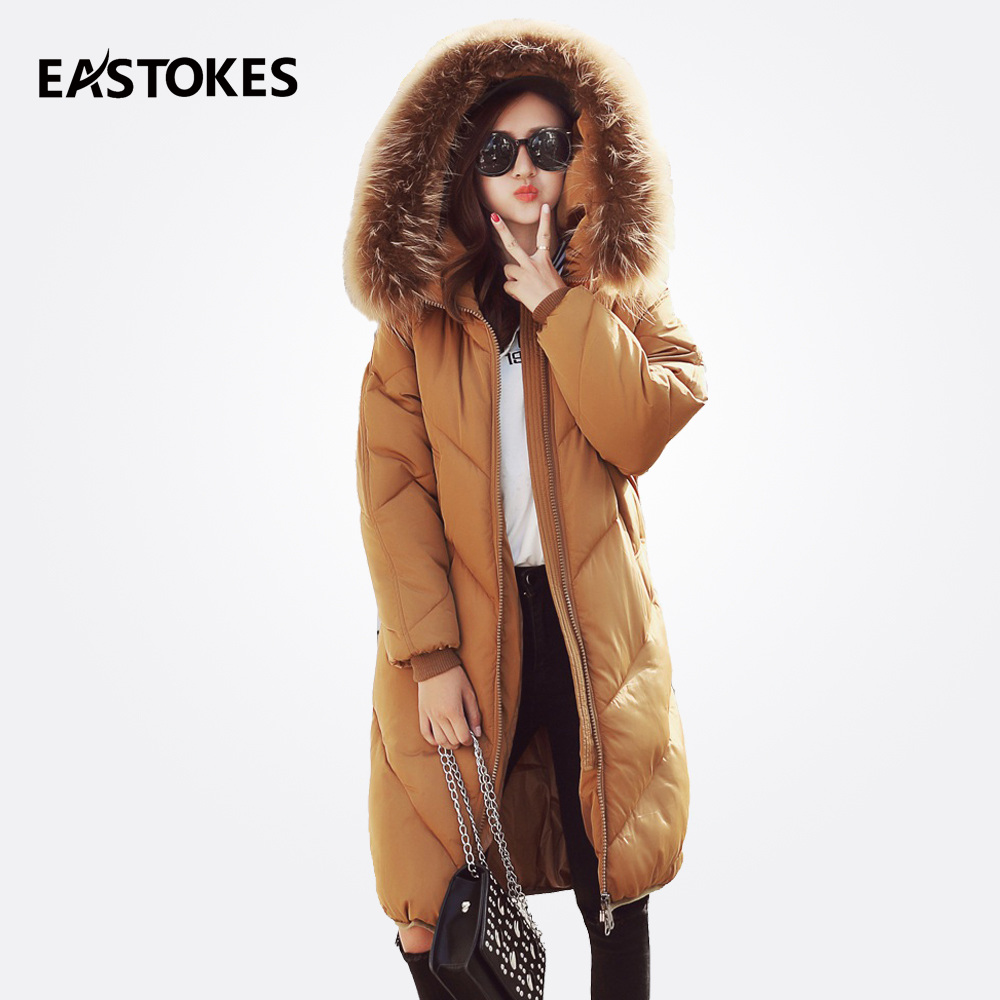 Winter Women Jackets And Coats Ladies Winter Hooded Jackets Solid Large Fur Collar Female Parkas Outerwears