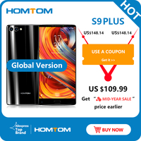 HOMTOM S9 Plus 18:9 HD+ 5.99 Tri bezelless Full Display Cell phone MT6750T Octa Core 4G RAM 64G ROM Dual Back Cam Mobile Phone
