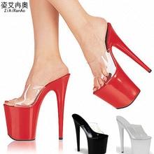 Summer Slides Transparent Women Sandals 15 17 20 CM Party Wedding High Heels Crystal 10 CM Platform Shoes Woman Big Size Pumps