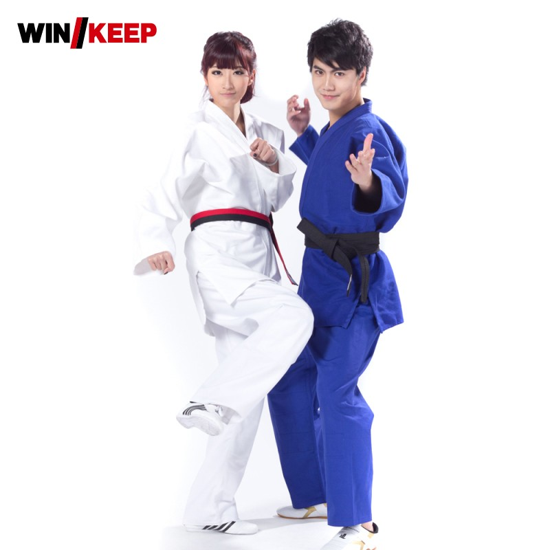 Hot Sale New Pure Color Brazilian Jiu Jitsu Judo Men Costume Bjj Gi Set Kung Fu Clothing Wu Shu Uniforms Top Quality Men Roupas image
