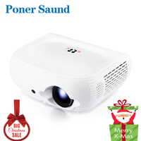 Christmas SALE !!! Clearance W1 HD LED Projector 3D Home theater Support Full HD 1080P HDMI VGA USB SD LCD Video Proyector