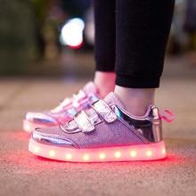 Nouveaux Garçons et Filles Respirant USB Rechargeable LED Lumière Casual Chaussures/Étanche Lumières Brillant Enfants de Loisirs Sneakers