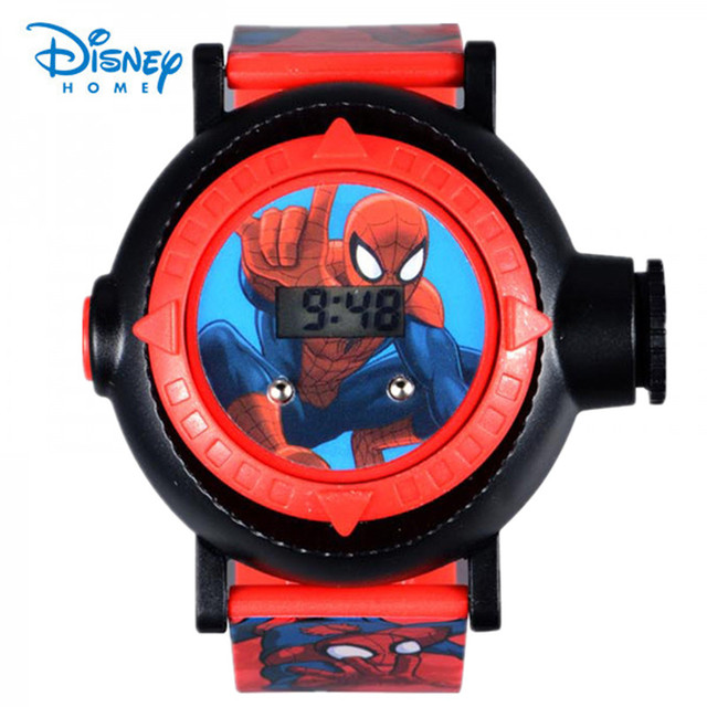 New spiderman kids watches cartoon projection led projector 20 images children digital for Spiderman watches