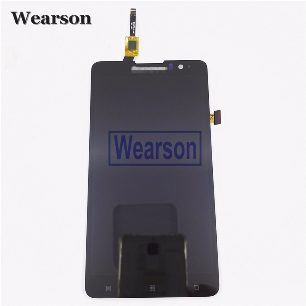ФОТО For Lenovo S898T S898T+ Touch Screen Sensor With LCD Display Panel Assembly Original Free Shipping With Tracking Number