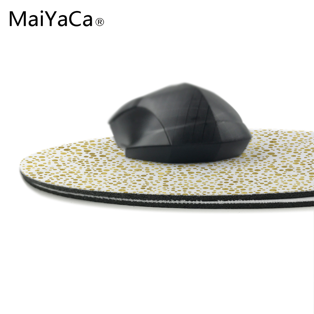 Maiyaca современный черный акварель в полоску Chic золото конфетти принты Мышь площадку небольшой Размеры вокруг игры Нескользящие резиновые pad