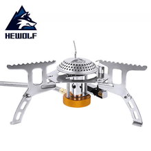 HEWOLF Folding Outdoor Camping Gas Stove Head Hiking Picnic Cooking Portable Stainless Steel Cookware Stoves