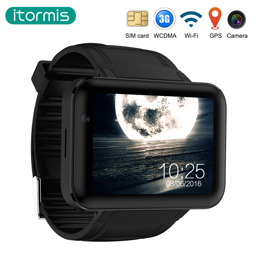 itormis Android bluetooth Smart Watch SIM card Smartwatch DualCore MTK6572 4GB+512MB 3G Google Camera GPS Wifi DM98 PK KW88 KW18