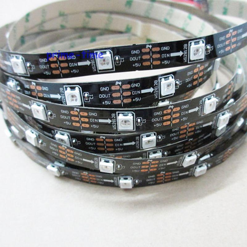 10x 5M zwarte PCB WS2812B 30Pixel / M 5050 SMD Niet-waterdicht WS2811 - LED-Verlichting