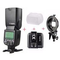 Godox TT685F /w X1T F TTL HSS Speedlite Flash For Fujifilm X T2 X T20 X T10 X A2 + X1T F + Bowens Mount Bracket + Diffuser