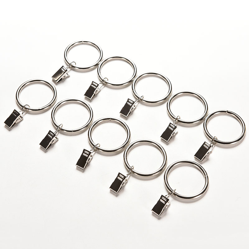 10PCS/lot Window Shower Curtain Rod Clips Rings Stainless Steel ...