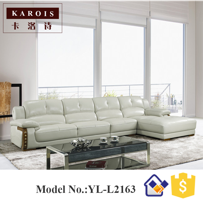 2017 New design modern living room furniture leather corner fancy ...