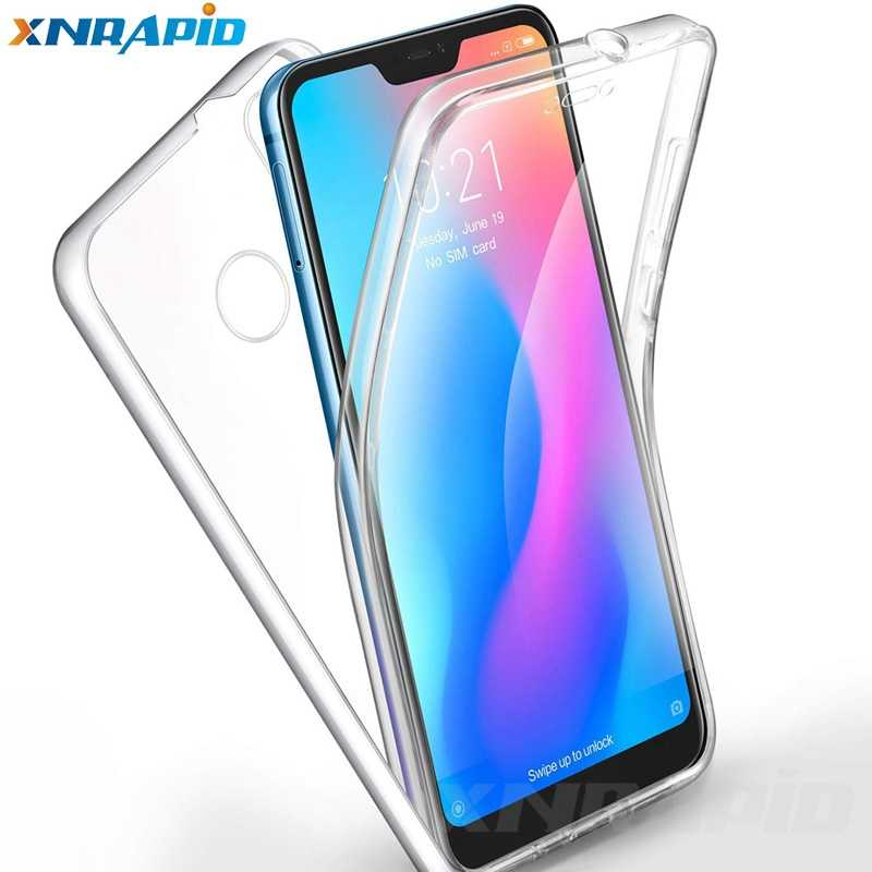The 360-degree case for xiaomi Mi A1 A2 Lite 5X 6X 8 SE red Mi 5 + 6A 6 note 7 4X 5 Pro 5A shockproof soft transparent cover