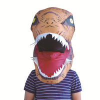 HIGH quality tyrannosaurus dinosaur air inflation Halloween Masks Adult Full Face Funny Mask Halloween Party Cosplay carnival