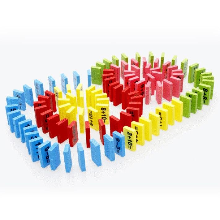 Chanycore Bébé D'apprentissage Éducatifs En Bois Jouets Jenga Blocs Domino 110 pcs mwz Forme Géométrique Montessori Enfants Cadeaux 4151