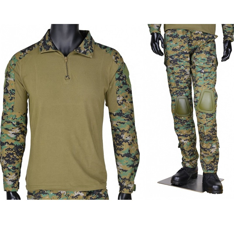CQC Tactical Airsoft Military Army Combat BDU Uniform Shirt & Pants Set Gen2 Camouflage Outdoor Paintball Hunting Digi-Woodland emerson military army uniform combat uniform gen2 marpat woodland em6913