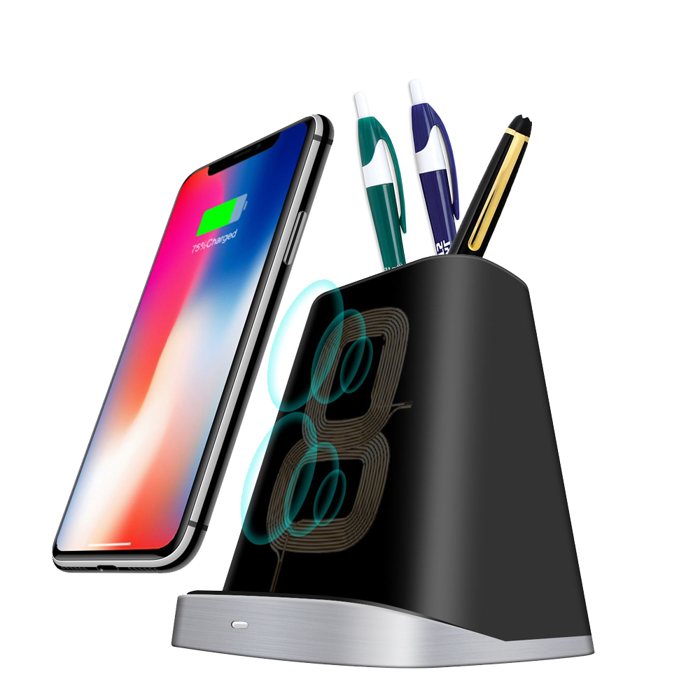 wireless charger pen pot qi charging pad  stand