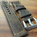 22 mm 24 mm Brown pulseira de couro genuíno clássico pulseira de cinto para Pam e relógio