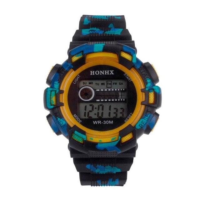 HONHX Men Digital Watches Waterproof LED Digital Date Military Sport Analog Quar