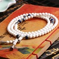 JoursNeige Natural Stone White Agate Bracelet 108 Beads 6mm Round Crystal Multilayer Fashion For Women Jade  Jewelry Accessories