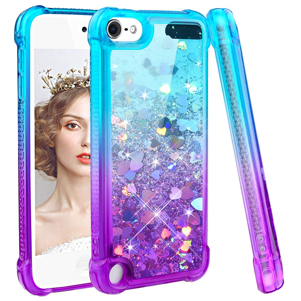 Case For iPod Touch 7 2019 Touch 6 Cover Gradient Quicksand Bling Sparkle Girl Glitter Soft Silicone Cover for iPod Touch 5 Case