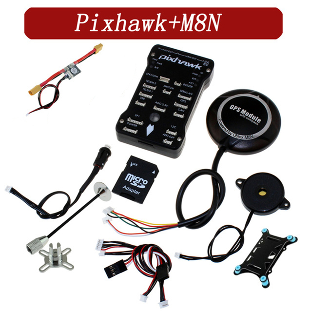 US $79 52 44% OFF|Pixhawk PIX PX4 2 4 8 Flight Controller M8N GPS Module  with Built in compass Micro SD Card adapter RC FPV -in Parts & Accessories