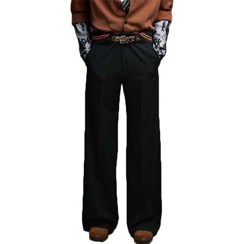 Jambes Catwalk 44 Hommes Taille De Pantalons Et Costumes Plus Cheveux Noir Larges Mode À La Vêtements 27 Jeans Gd Sport Styliste Nouveau Droite 2018 rCexBdo