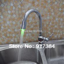 Кухня LED раковина кран бассейна матовый хром смеситель кран de-0126