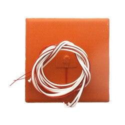 DuoWeiSi części drukarki 3D 12x12CM Heatbed 24 V/220 V 50 W/100 W/500 W Thermostor grzałka silikonowa Pad 120*120mm ciepła łóżko