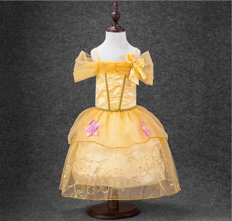 New Girls Party Dresses Kids Summer Princess Dresses for Girls Cinderella Rapunzel Aurora Belle Cosplay Costume Wedding Dresses