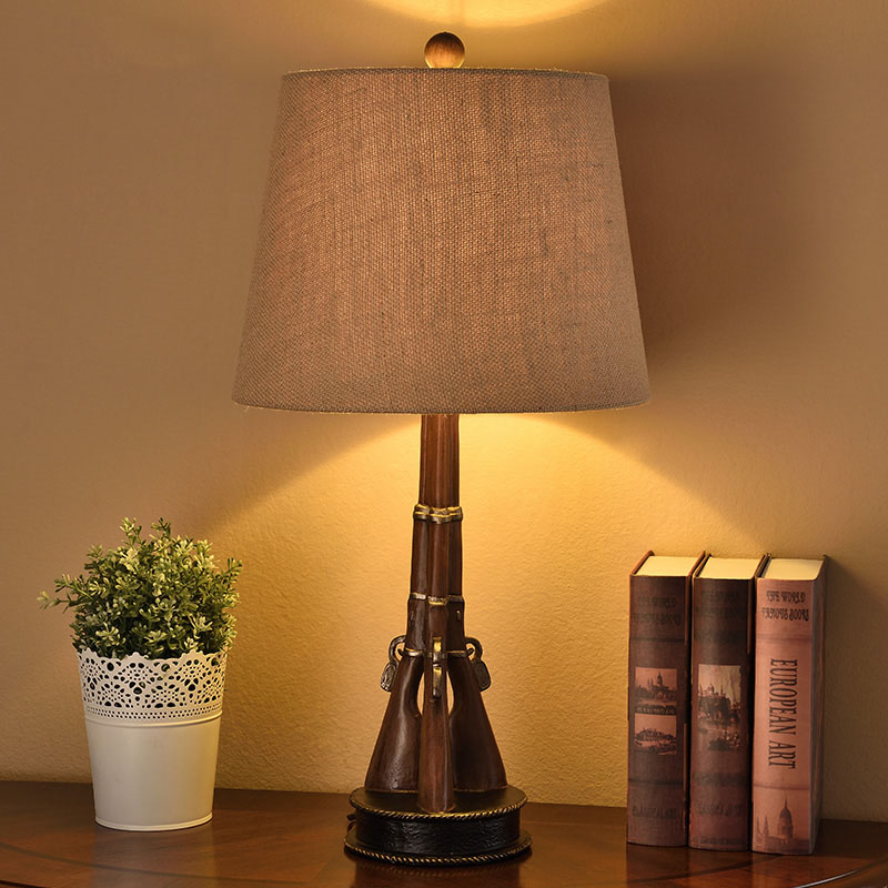 3Pcs Gun Resin Table Lamps Fashion Bedroom Bedside Lamp E27 Holder Reading Desk Lights Lampe De Table Moderne novel art solid geometry bedroom bedside table lamps led table lamp 220v desk lights decor eye protection reading light white