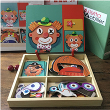 Магнитная головоломка деревянная игрушка деревянные пазлы для детей Обучающие Игрушки для раннего развития когнитивные ролевые игры настольные игры Детский подарок