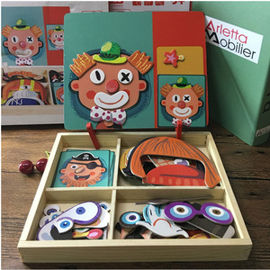 Magnetic Puzzle Wood Toy Woode
