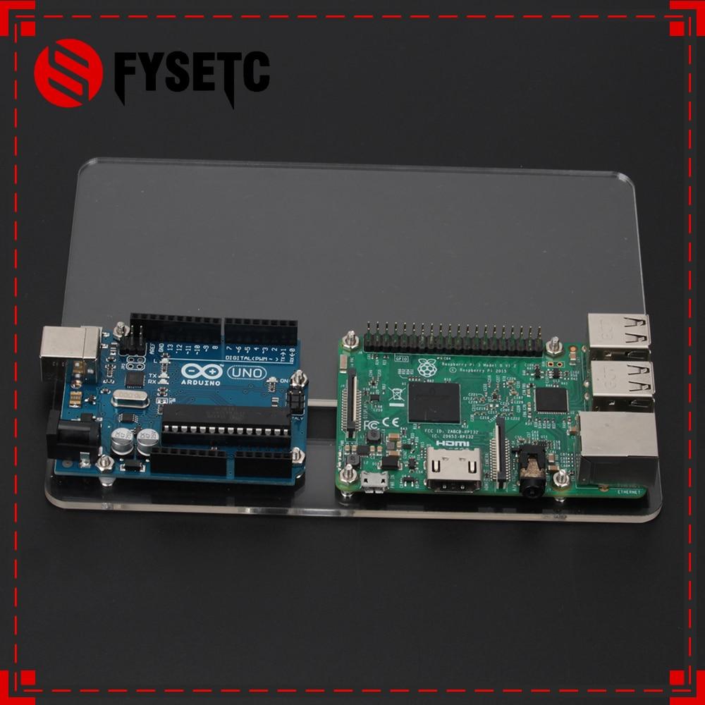 Raspberry Pi 3 Model B Acrylic Mount Plate DIY Prototype Experimental Platform For UNO R3 For Raspberry Pi 2 Case