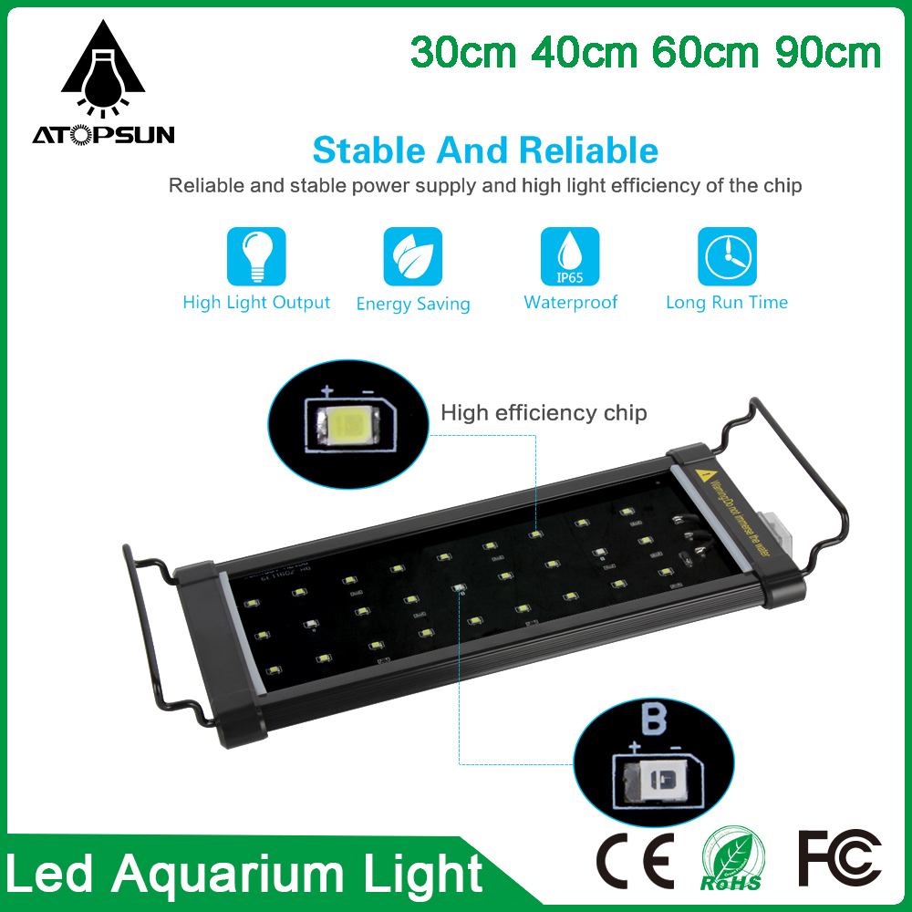 1pcs 2016 Hot selling led grow 30cm 40cm 60cm 90cm led aquarium light for coral reef