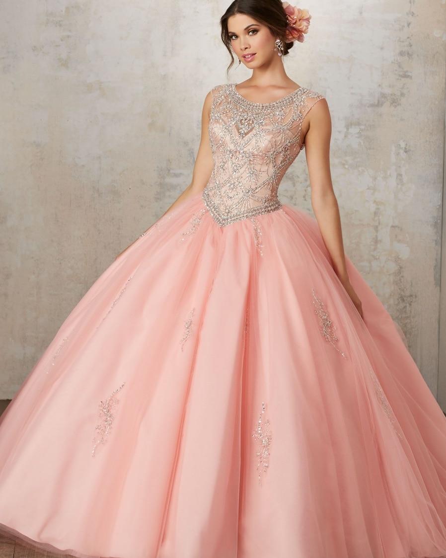 50e839409b Vestidos De 15 años debutantes vestido barato Puffy vestido De Quinceanera  Vestidos 2018 Coral Vestidos De