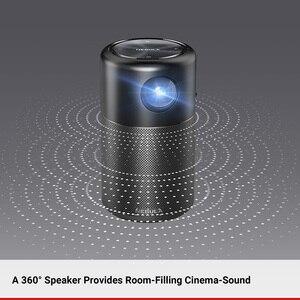 Image 4 - Anker Nebula, mini projektor kapsułkowy, inteligentny, przenośny rzutnik, do filmów, kieszonkowy, z głośnikiem DLP, 360 stopni, 100 cal, Android 7.1, aplikacja
