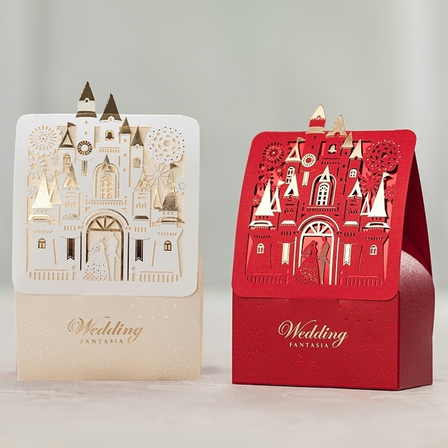 Romantic Castle Favors Gifts Baby Shower Elegant Red Gold Luxury