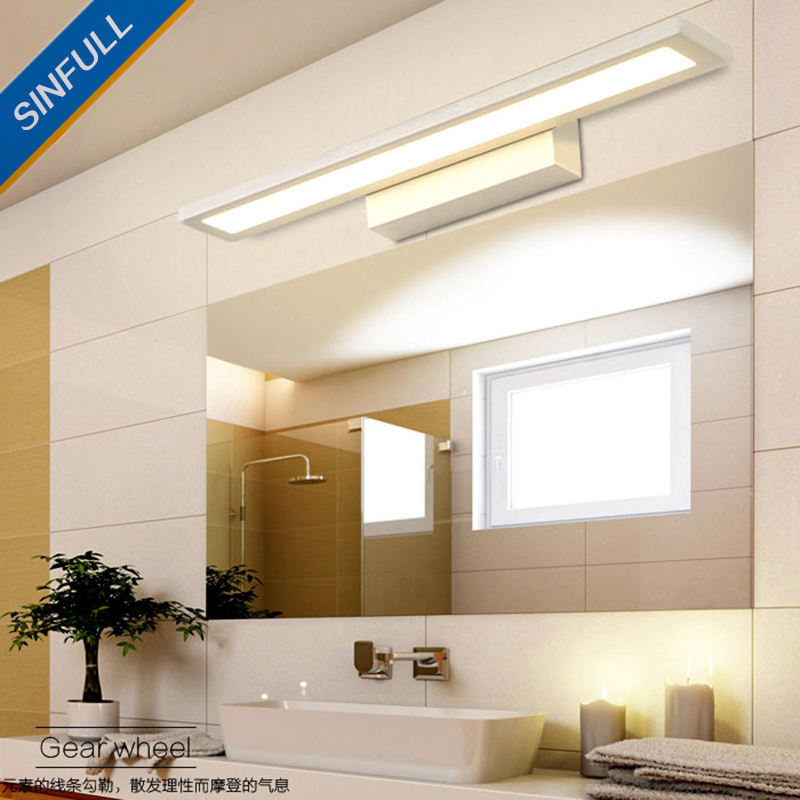 Waterproof Led Mirror Front Light Moistureproof Bathroom Wall Lamp Creative Modern Minimalist Mirror Lighting Fixtures AC90-260V only minimalist modern creative bedside lamp led wall lamp mirror front lamp aisle lighting fixtures wall lights led