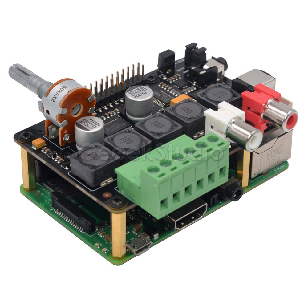 New! X400 V3.0 DAC + AMP Expansion Board With Full-HD Audio / Optional Metal Case Enclosure For Raspberry Pi 3B+ (Plus) / 3B /2B