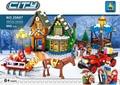 25607 860 unids Alanwhale Invierno Pueblo Ciudad de Adviento en el Taller de Santa de Navidad Juguetes de los Ladrillos Bloques ladrillos niño compatiable