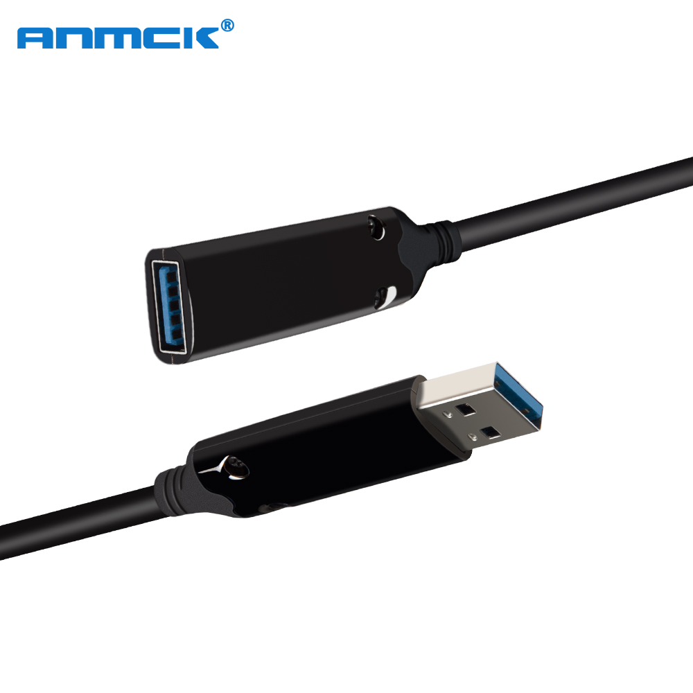 Anmck USB 3.0 Cable 10M 20M 30M 40M Male To Female Mini USB To USB Extension Cable For Laptop Projector