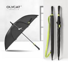 Лидер продаж бренд большой длинные Зонт полуавтомат ветрозащитный дождь зонтик Для женщин Для мужчин качество 8 К армированные Paraguas
