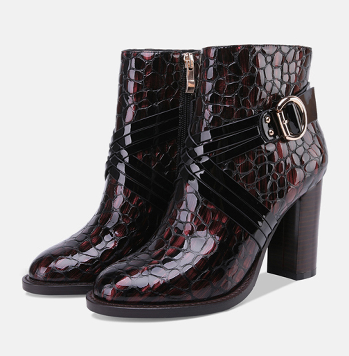 Fashion Black Boots Women Heel Spring Autumn Lace-up PU Leather Platform Shoes Woman Party Ankle Boots High HeelsFashion Black Boots Women Heel Spring Autumn Lace-up PU Leather Platform Shoes Woman Party Ankle Boots High Heels