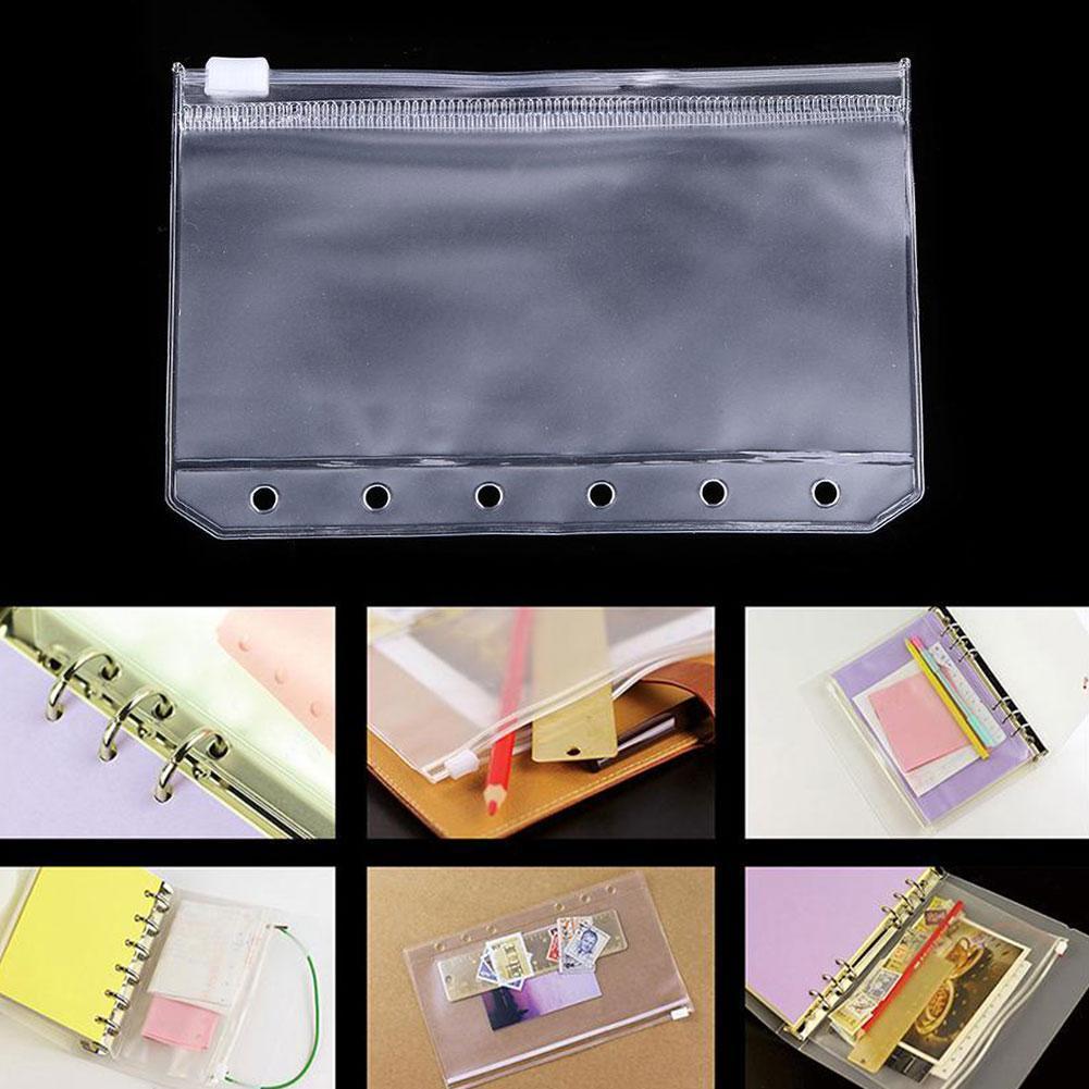 1Pc A7 PVC Presentation Binder Foldesr Zipper Receive Bag Concise Planner Spiral Filing Products Holder Bag File Organizer