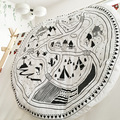 INS Fashion Europe Newborn Baby blanket village animal road pattern  lovely for Air conditioning blanket Carpet mat game quilt