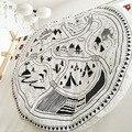 Ins moda europa cobertor do bebê recém-nascido aldeia animal road padrão encantador para ar condicionado cobertor tapete jogo mat colcha
