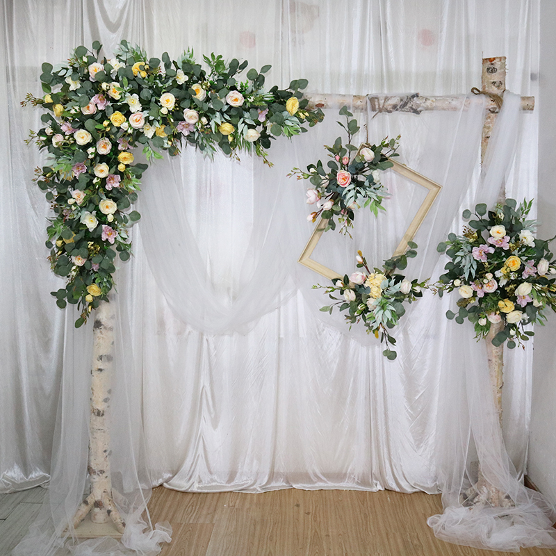 Customize artificial flower row garland decor home curtain wedding road lead corner flower wall silk flower centerpieces ballCustomize artificial flower row garland decor home curtain wedding road lead corner flower wall silk flower centerpieces ball