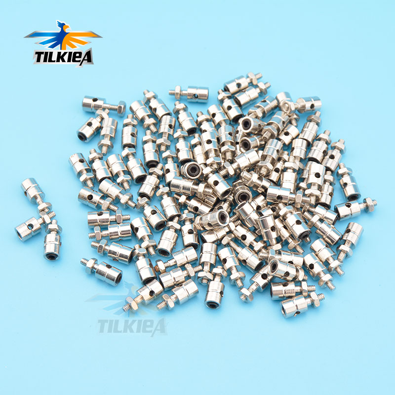 10pcs Rc Airplane Pushrod Linkage Stopper Servo Connectors Adjustable Easy Diameter 2.1mm/1.8mm/1.5mm/1.1mm Helicopter